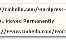 将cmhello.com域名301重定向到www.cmhello.com域名